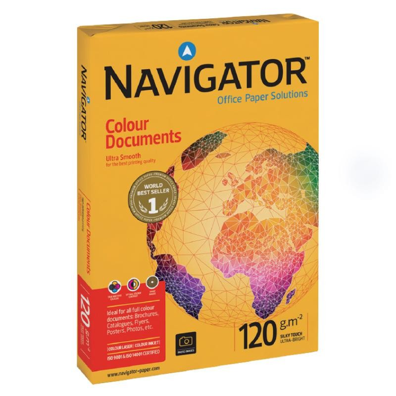 Popierius NAVIGATOR Colour Documents, 120 g/m2, A4, 250 lapų