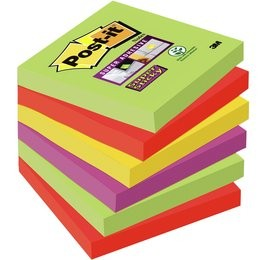 Itin lipnių lapelių kubas POST-IT Super sticky Marrakesh, 76x76 mm, 450 lapelių