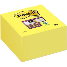 Itin lipnūs lapeliai POST-IT Super sticky, 76x76 mm, 350 lapelių, geltoni