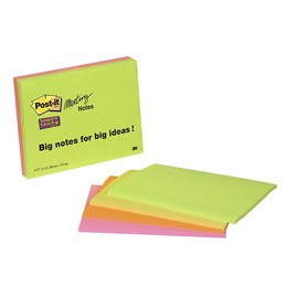 Didelio formato lipnūs lapeliai POST-IT Super sticky, 200x149 mm